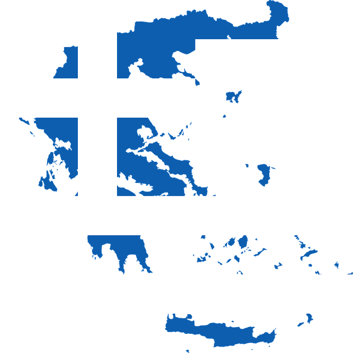 Greece, Country, Europe, Flag, Borders, Map, Nation