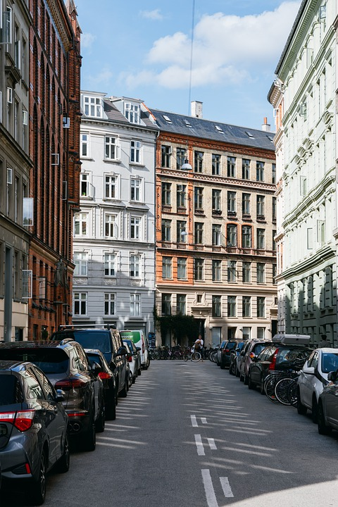 Copenhagen, Street, Urban, Europe, Facade, Buildings