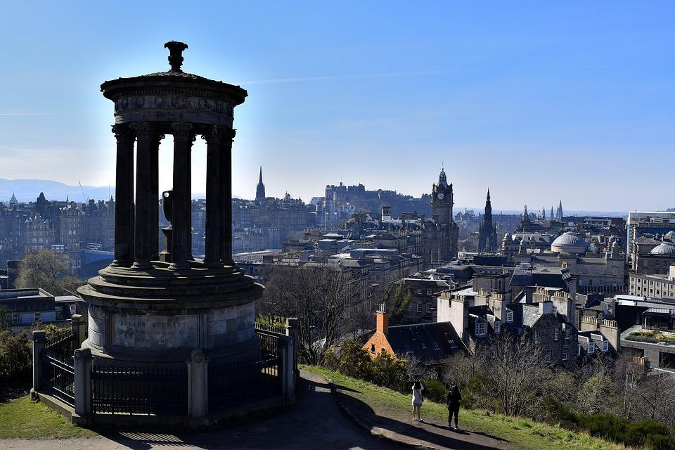 Edinburgh, Calton Hill, City, Tourism, Scotland, Europe