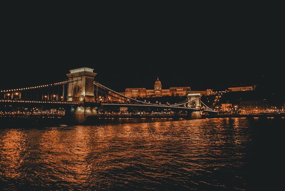 Budapest, Europe, Night, Danube, Famous, Capital, City