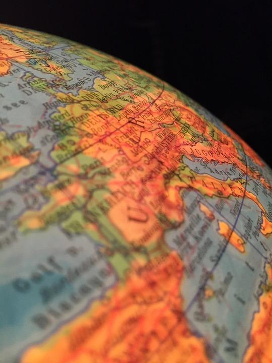 Globe, Ddr, Europe, Federal Republic Of Germany, Eu