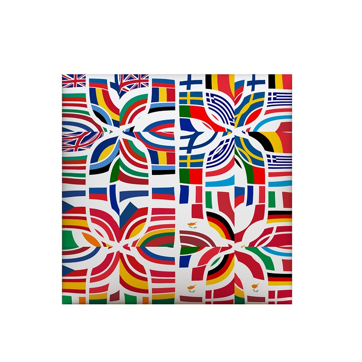Europe, Flags, European, Patchwork, Country