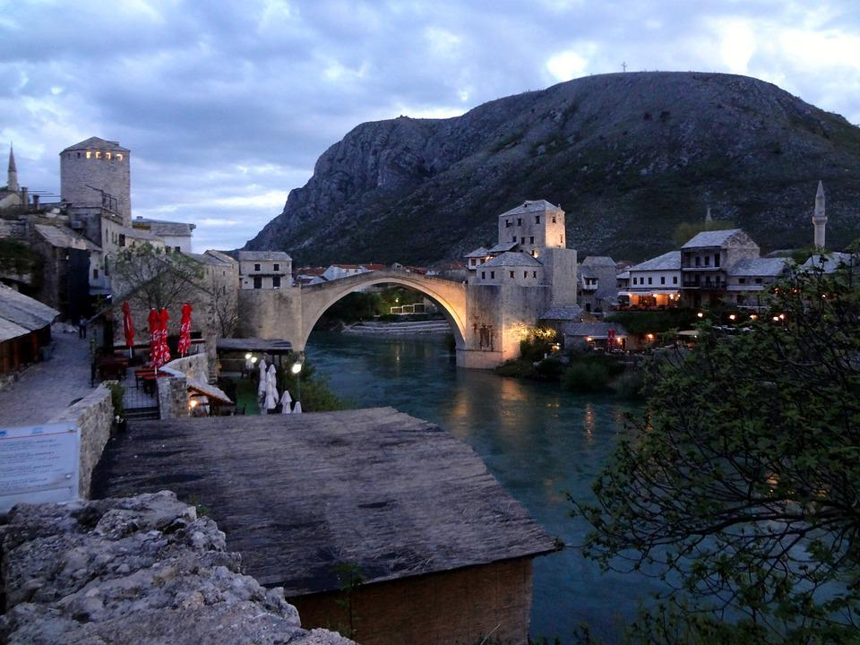 Bosnia, Mostar, Herzegovina, Europe, Travel, Landmark