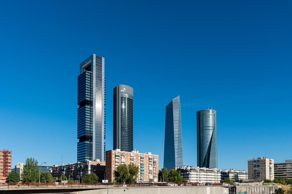 City, Madrid, Spain, Skyscraper, Capital, Europe