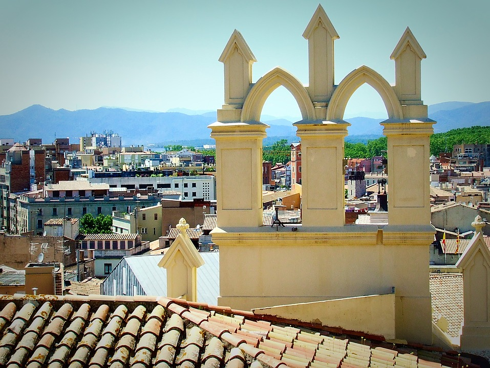 Girona, Old Town, Catalonia, Rooftop, Europe