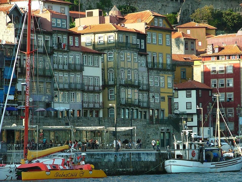 Portugal, Porto, Europe, Harbor, Praça Ribeira
