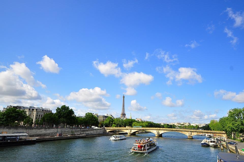 Paris, Eiffel Tower, Europe, River Seine, Seine, Tower