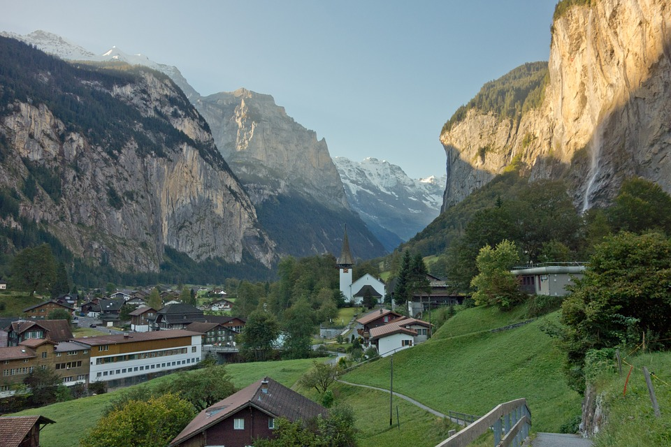 Switzerland, Alps, Swiss, Europe, View, Summer
