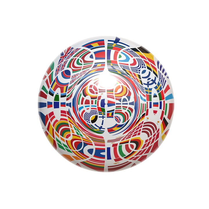 Ball, Round, Europe, Flag, European, Patchwork, Country