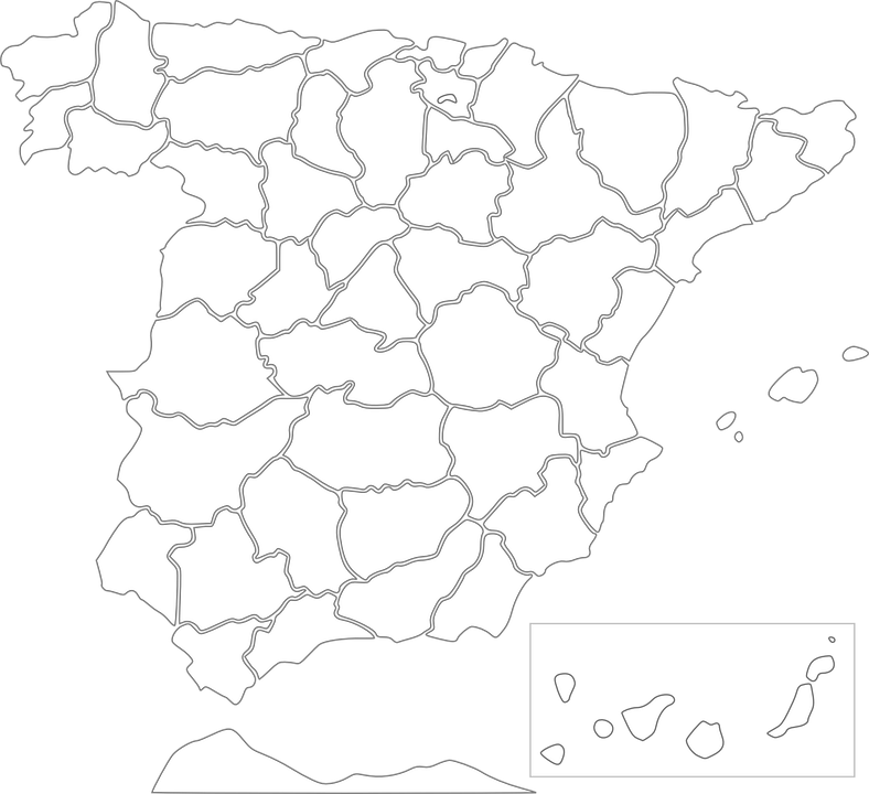 Spain, Map, European Country, Province