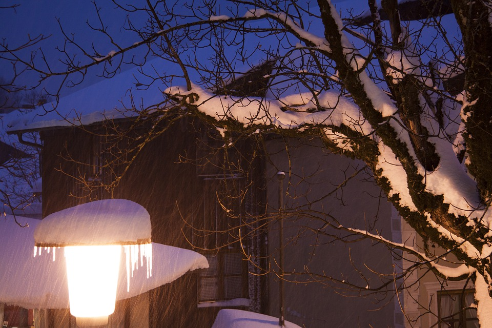 Evening, Abendstimmung, Lamp, Street Lamp, Winter, Snow