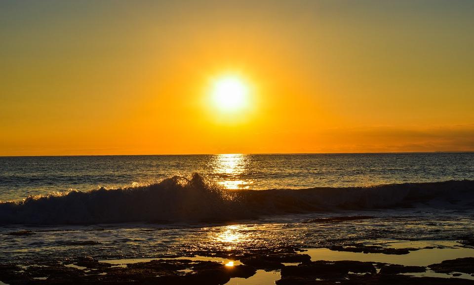 Sunset, Sun, Beach, Nature, Sky, Dusk, Mood, Evening