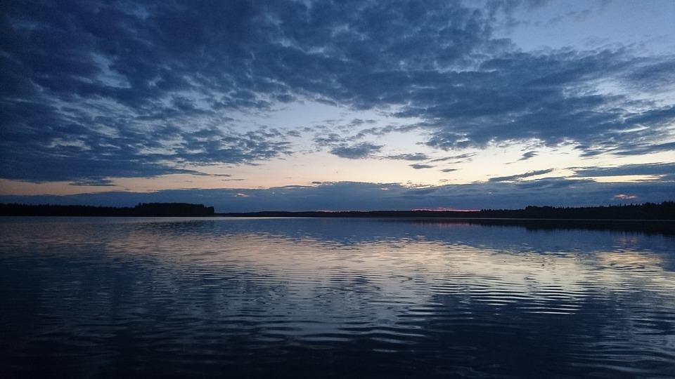 Lake, Water, Lake In Finland, Evening, Calm