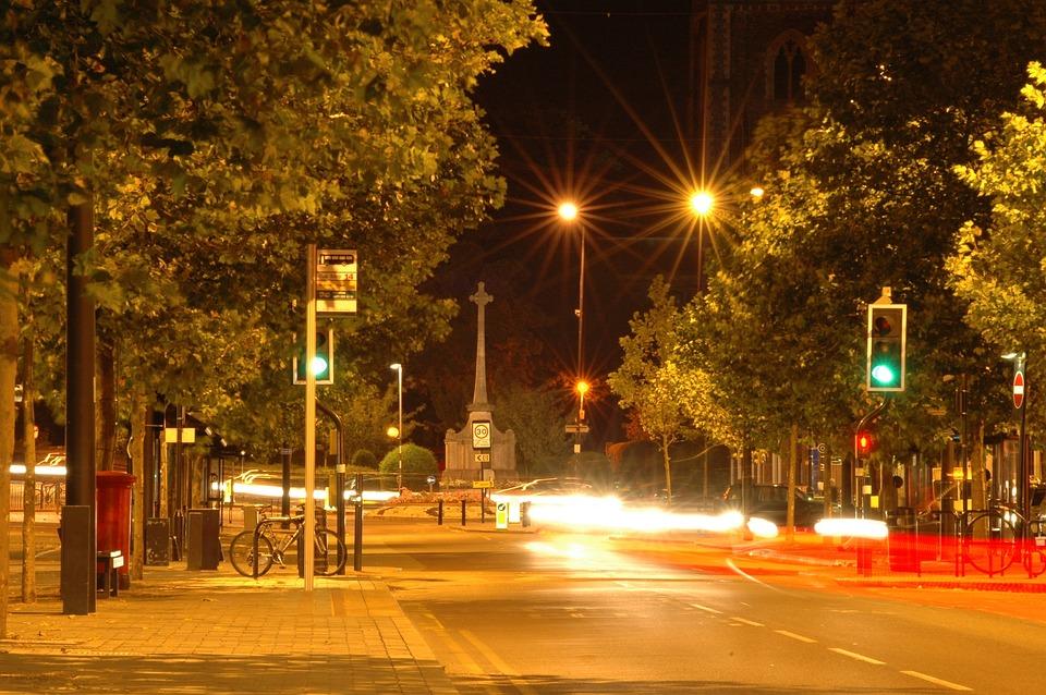 Evening, City, Urban, Night, Downtown, Empty