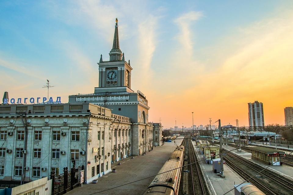 Volgograd, Evening, City, Station, Sky, Sunset, Clouds