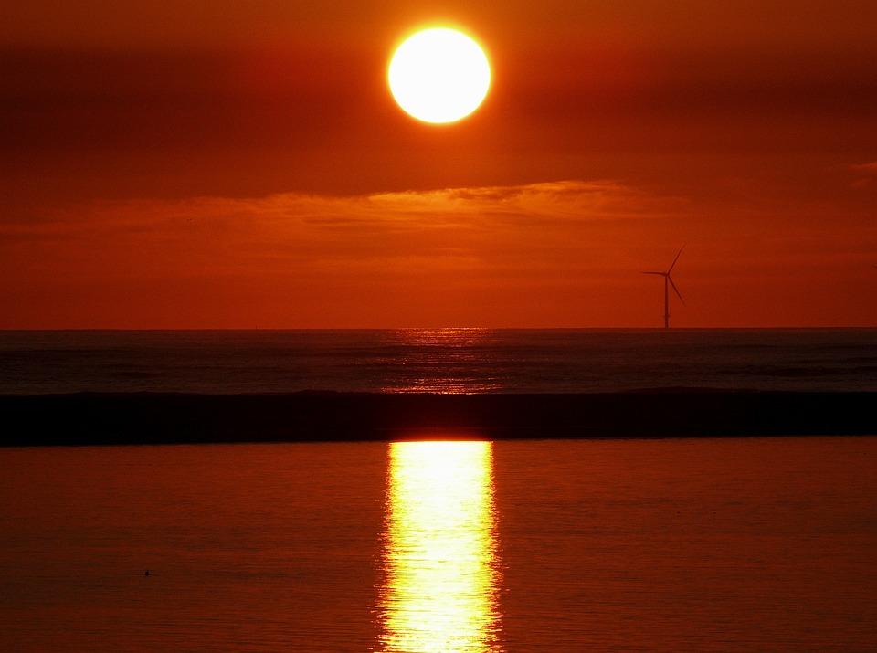 Sunset, Dusk, Sky, Abendstimmung, Mood, Evening, Clouds