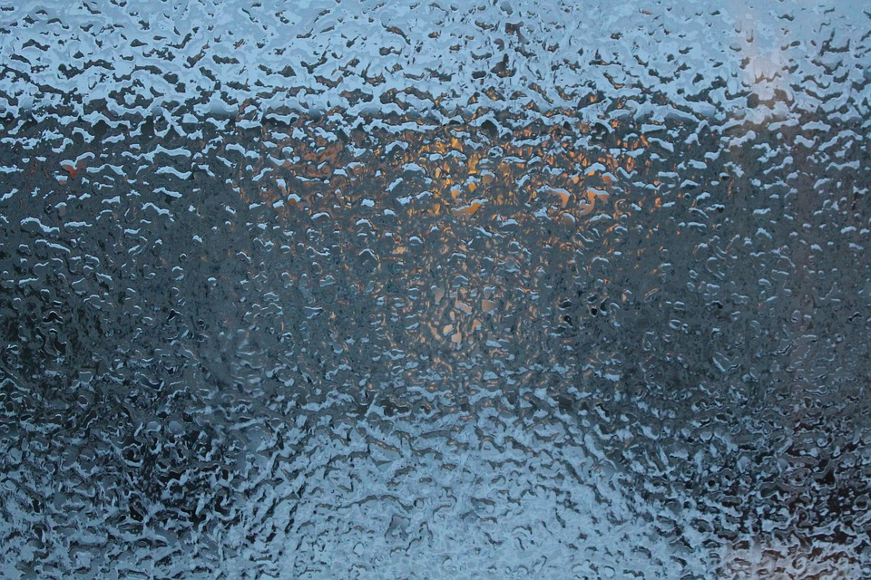 November, Window, Glass, Evening, Ice