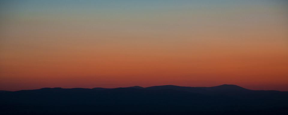 Mountains, Sunset, Evening, Silhouette, Landscape, Land
