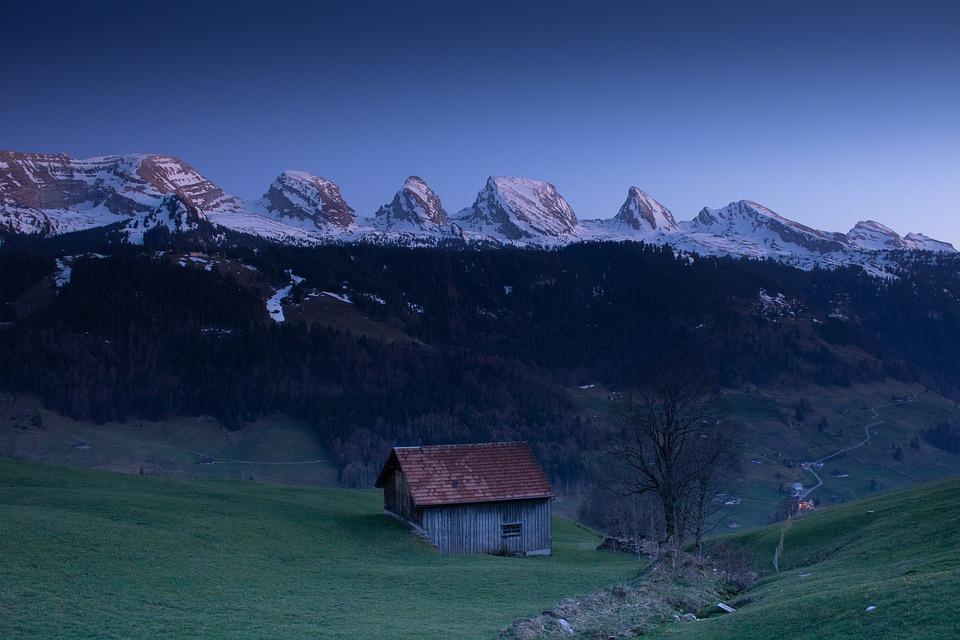 Mountains, Evening, Nature, Twilight, Landscape
