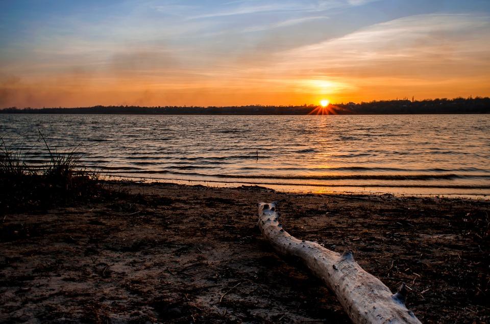 Balance Beam, Sunset, Landscape, Nature, Evening, Beach