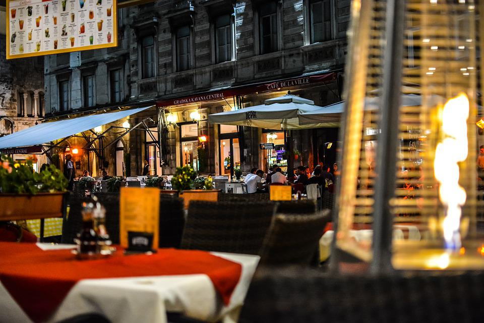 Split Croatia, Cafe, Evening, Night, Nightlife, Flame