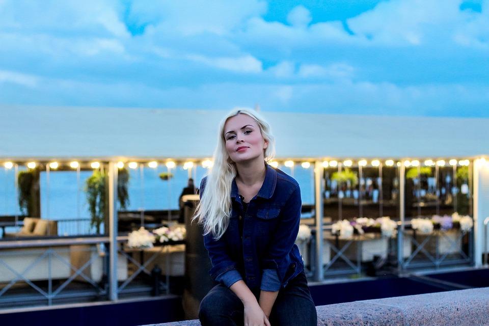 Beautiful Blonde, Peter, St Petersburg Russia, Evening