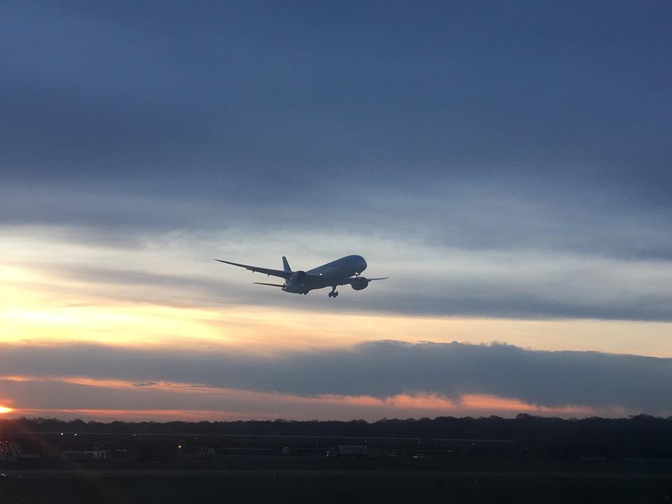 Plane, Evening, Flight, Airplane, Sky