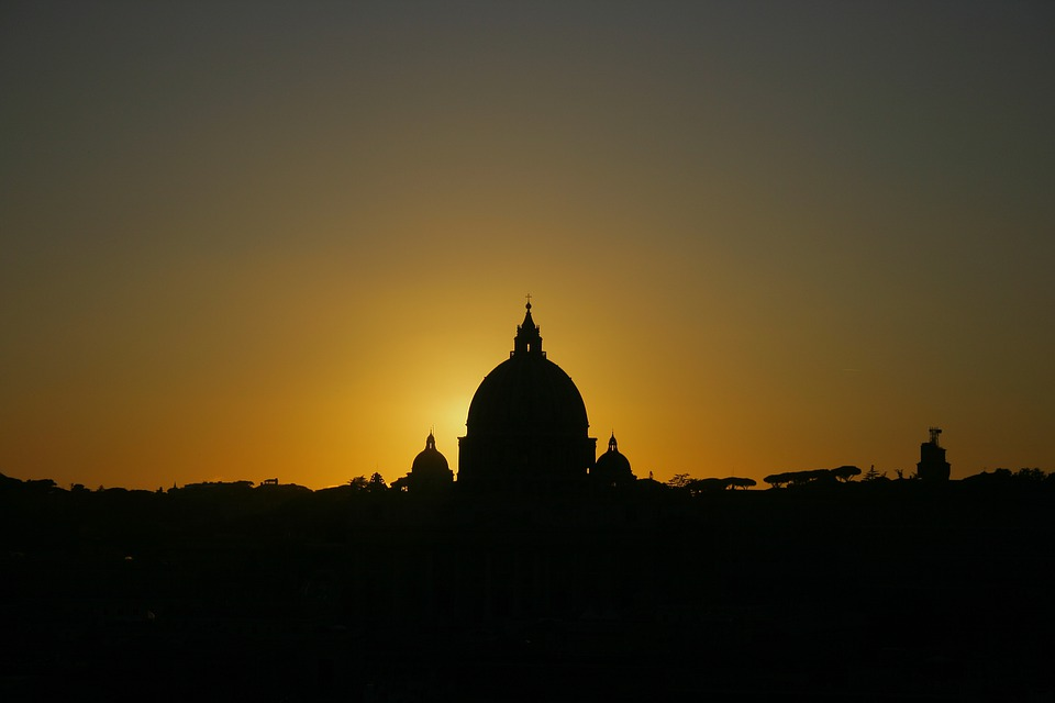 Vatican, Evening, Sunset, St Peter's Basilica, Religion