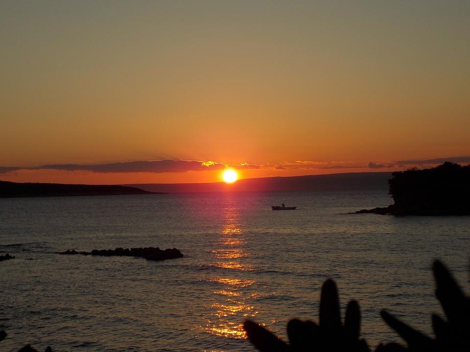 Sunset, Afterglow, Evening Sky, Abendstimmung, Sea