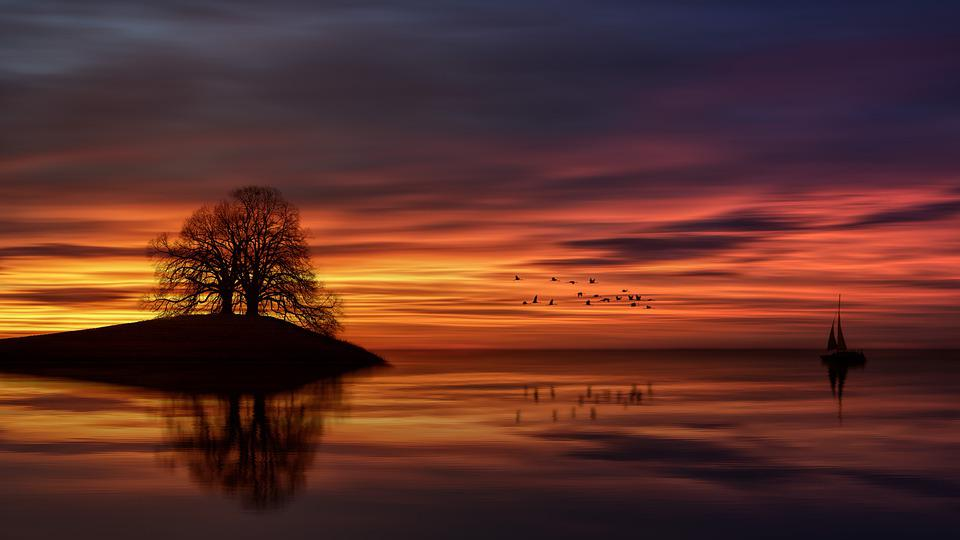 Sunset, Dawn, Dusk, Evening, Sun, Sky, Silhouette