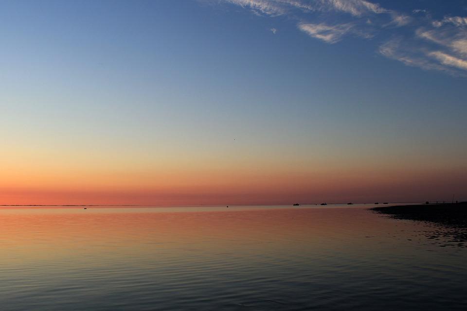 Sunset, Evening Sky, Coast, Föhr, North Sea