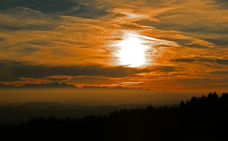 Abendstimmung, Landscape, Sunset, Nature, Evening Sky