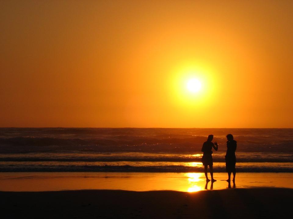 Sunset, Sea, Holiday, Mood, Romance, Evening Sky