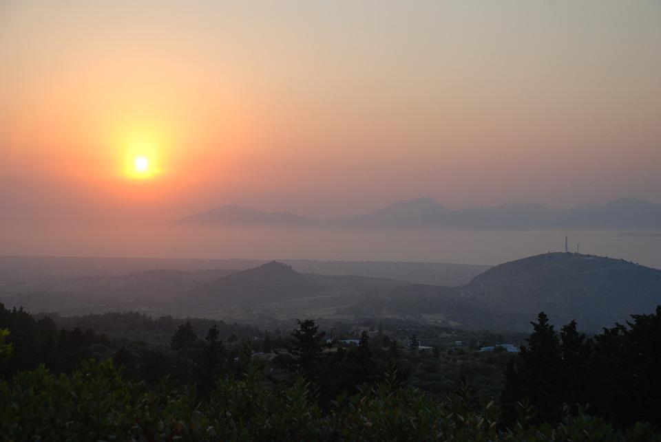 Sunset, Summer, Orange, Sun, Evening, Ocean, Landscape