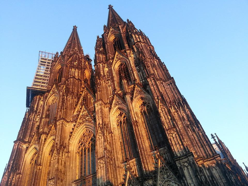 Cologne Cathedral, Cologne, Evening Sun, Church