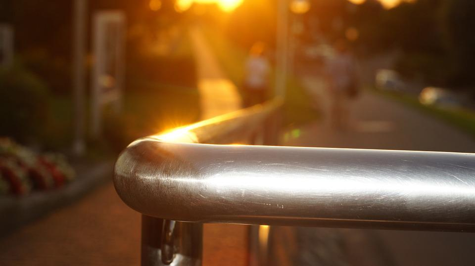 Railing, Evening Sun, Gloss, Metal