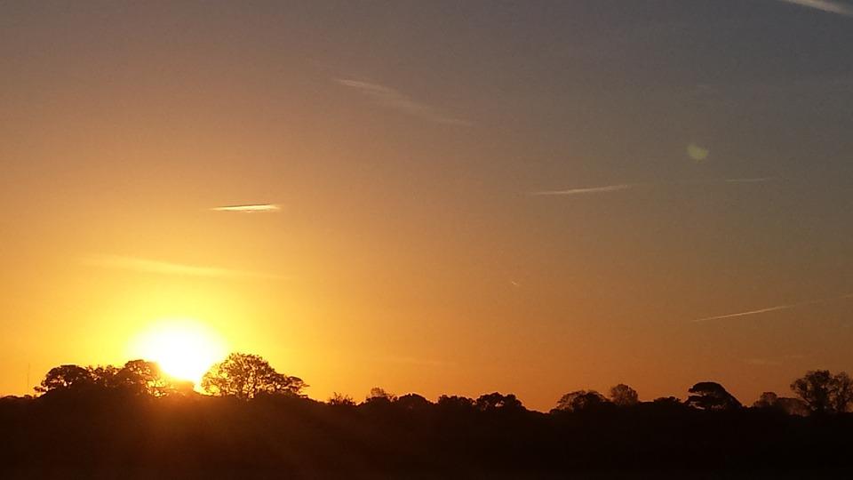 Sun, Sunrise, Evening, Outdoors, Nature, Sunlight