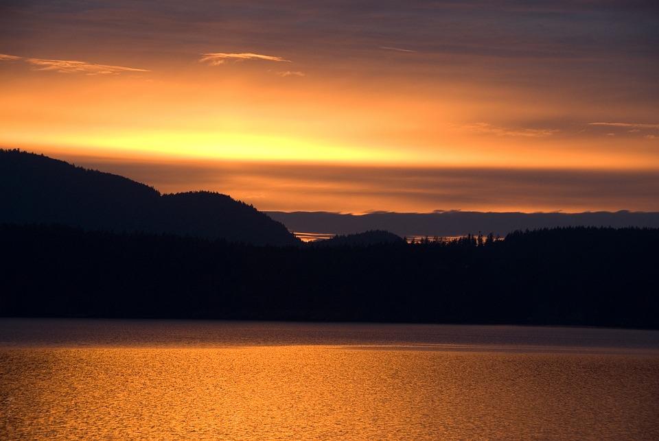 Sunset, Sea, Sun, Sunrise, Sunlight, Evening, Outdoor