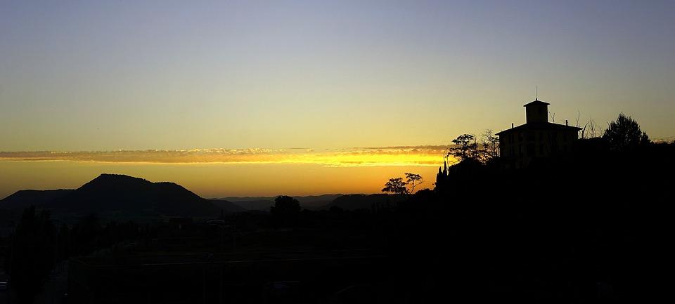 Backlight, Sunset, Sun, Evening Sun, West, Landscapes