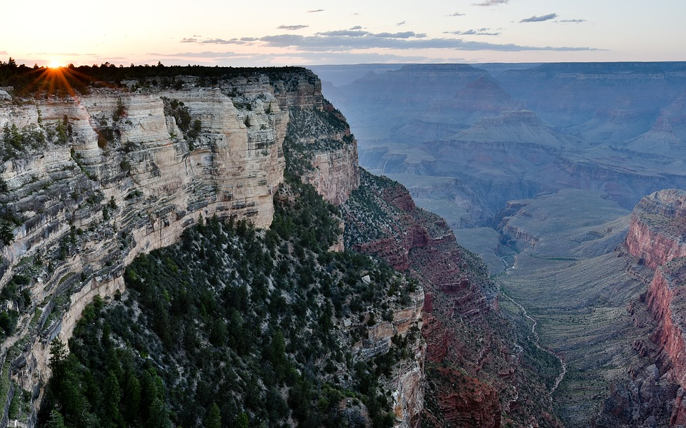 Grand Canyon, Sunset, Evening, Gorge, Arizona