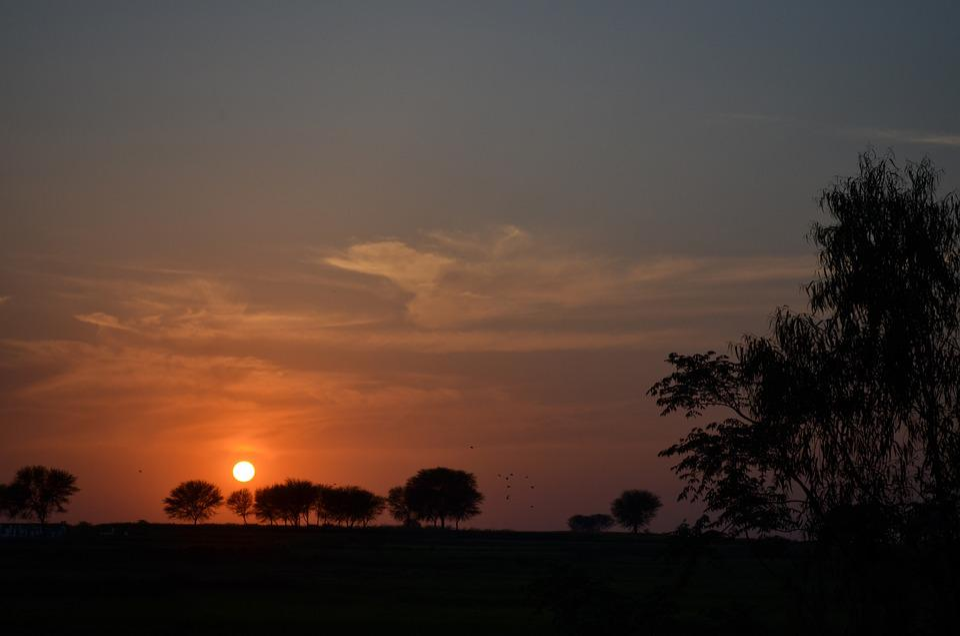 Sunset, Evening, Landscape, Sun, Sunset Background