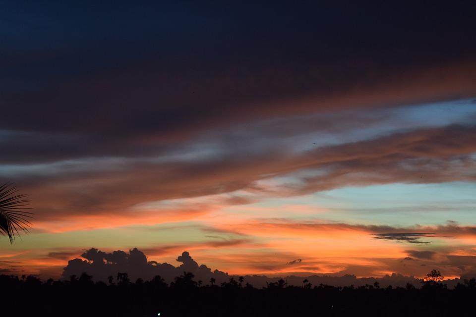 Sunset, Dusk, Evening, Dawn, Sky, Sun, Silhouette