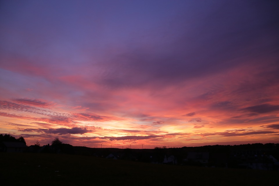 Evening Sky, Evening, Twilight, Night, Horizon, Sunset