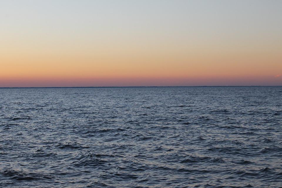 Evening, Sunset, Green Bay, Sunset Sky