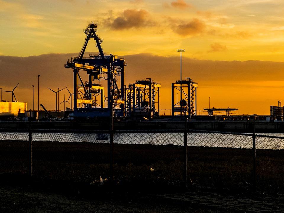 Industrial, Technology, Sunset, Landscape, Evening