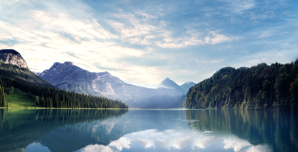 Mountain, Lake, Water, Forest, Landscape, Evening