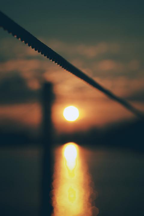 Sun, Evening, Sunset, Sunrise, Summer, Light, Water