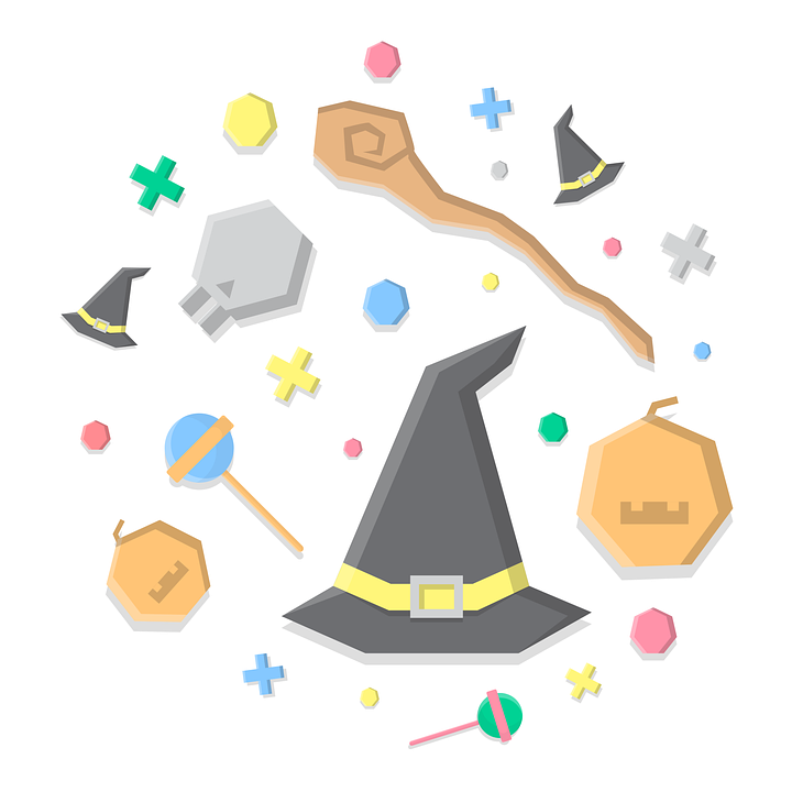 Halloween, Event, Design, Halloween Icons, Witch Hats