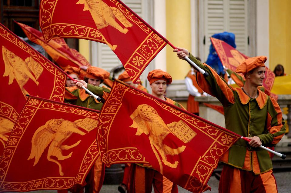 Flag, The Middle Ages, Performance, Color, Event