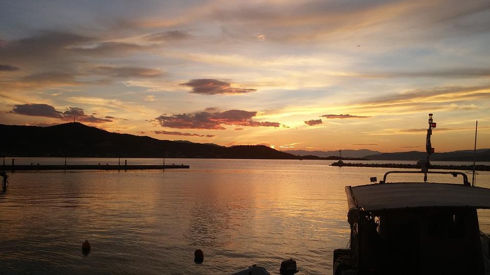 Evia, Greece, Sunset